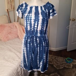 NEVERWORN Tie Dye Dress
